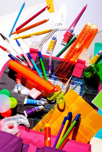 School stationery supplies. : Stock Photo