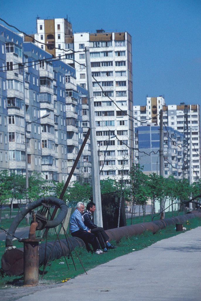 District of Karkowski, in Kiev, where the former unhabitants of Pripiat were relocated after the nuclear accident of Tchernobyl on 26 April 1986. : Stock Photo