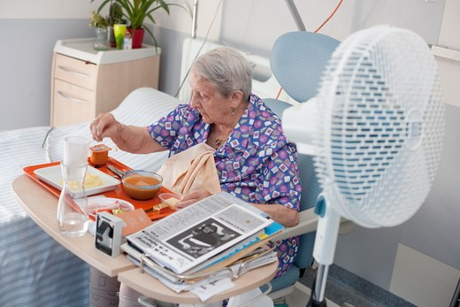 Residential home for dependent elderly person, Limoges, France. : Stock Photo