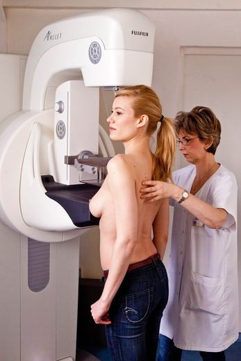 Breast cancer screening. Digital mammography. : Stock Photo