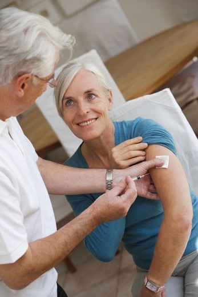 Vaccine against influenza. : Stock Photo