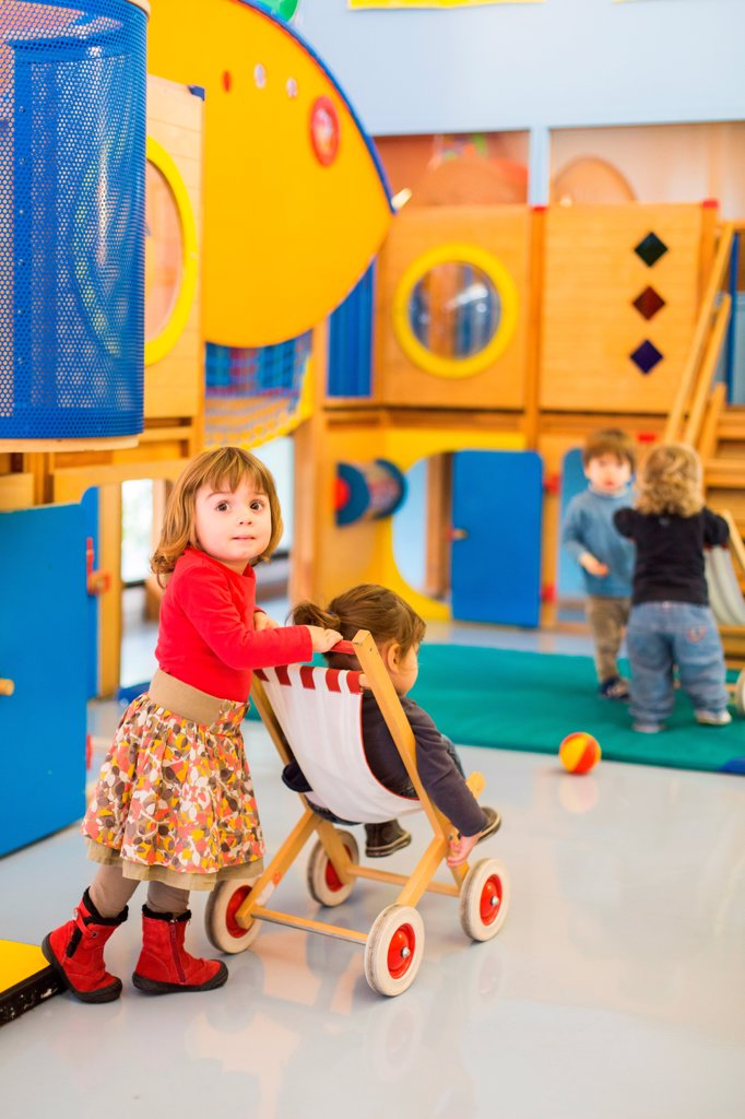 Stock Photo: 4269-39562 Shared playroom of day nursery and day care center, Angoulême, France.