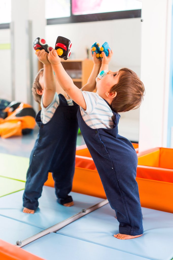 Stock Photo: 4269-39591 Shared playroom of day nursery and day care center, Angoulême, France.