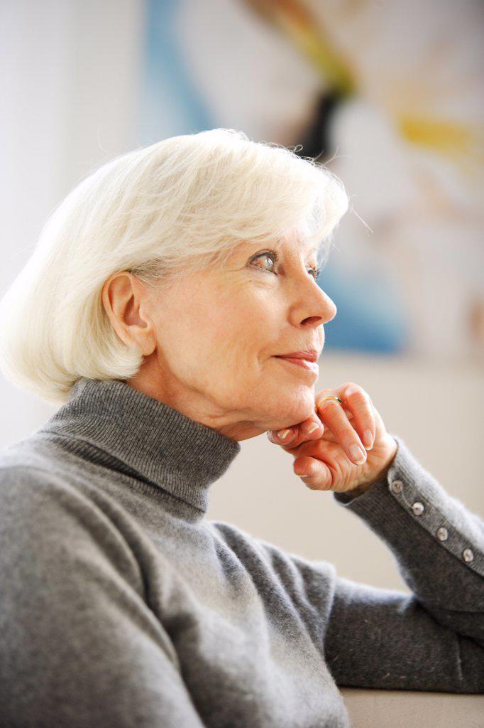 Portrait of a senior woman. : Stock Photo