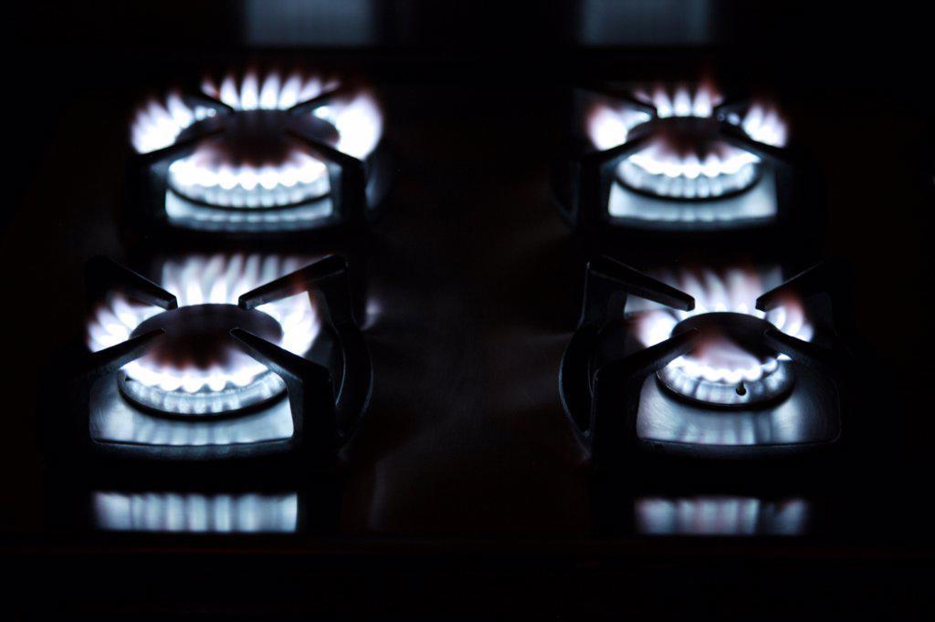 Gas burner. : Stock Photo