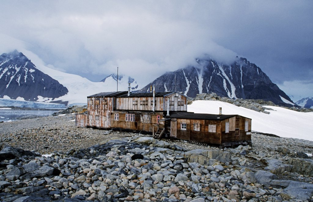 Stock Photo: 4272-1059 Antarctica, Stonington Island. Abandoned British base now a historic site