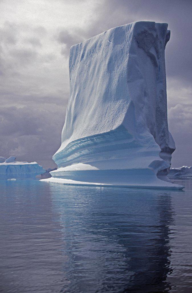 Stock Photo: 4272-1086 Antarctica, Grandidier Channel, Pleneau Island. Grounded iceberg.