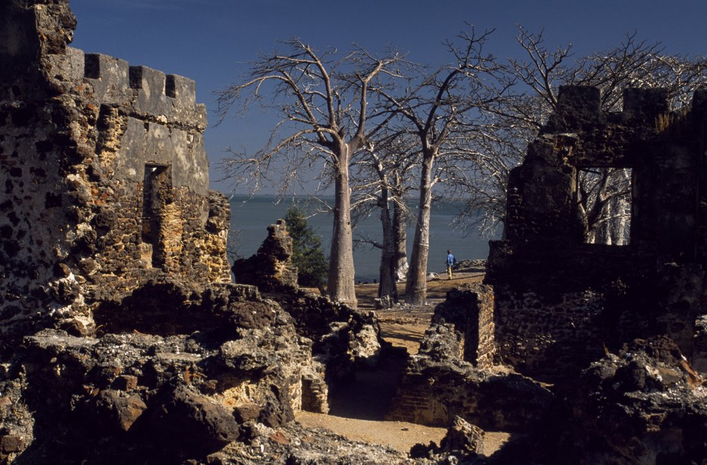 Stock Photo: 4272-11779 The Gambia, Banjul, James Island. Fort James, a crumbling 17th century fortress on James Island is frequently visited by tourists from Banjul, about 25 km away.