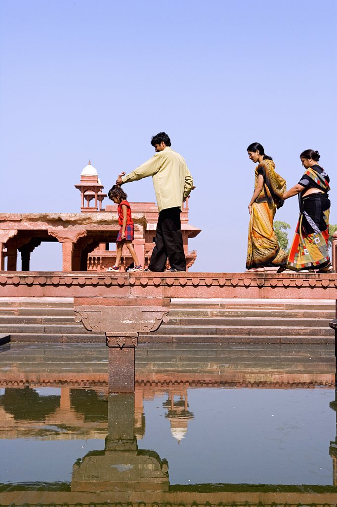 Stock Photo: 4272-13671 Anup Talao also called the The Peerless Pool or Kapur Talao. Fatehpur Sikri, Uttar Pradesh, Agra District. India