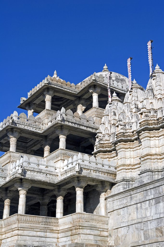 Stock Photo: 4272-13724 15th Century entrance to Ranakpur Jain Temple dedicated to Adinatha, Udaipur, Rajasthan, India