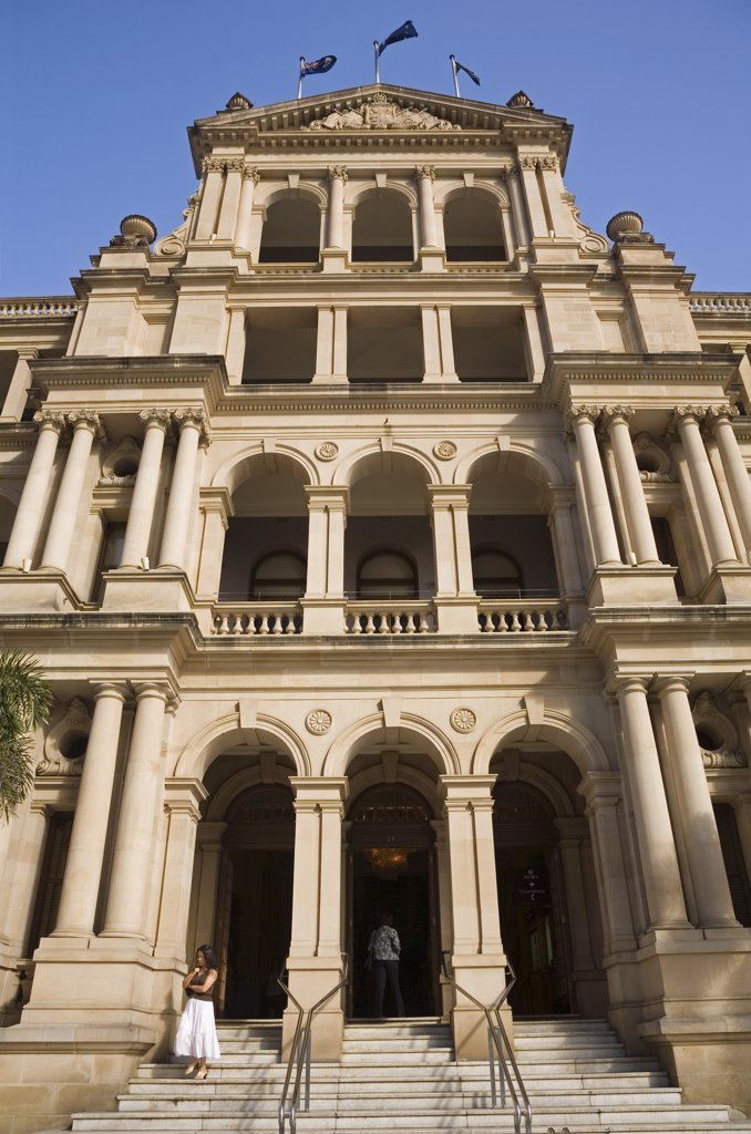 Stock Photo: 4272-1401 Australia, Queensland, Brisbane. The Italian Renaissance-style facade of the Treasury Casino in Brisbane.