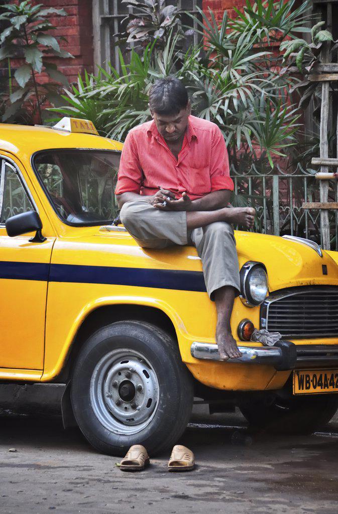 Stock Photo: 4272-14350 Taxi of Kolkata (Calcutta), India