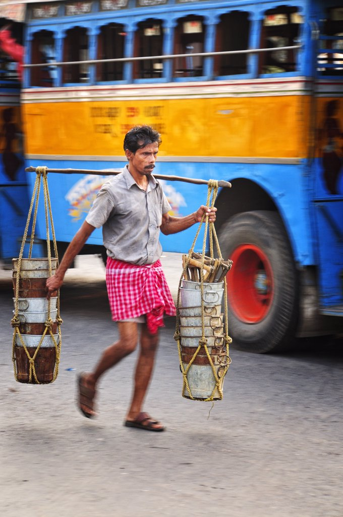 Streets of Kolkata. India : Stock Photo
