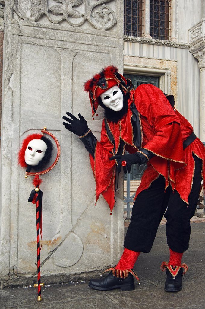 Stock Photo: 4272-14936 Carnival Joker Costumes and Mask.