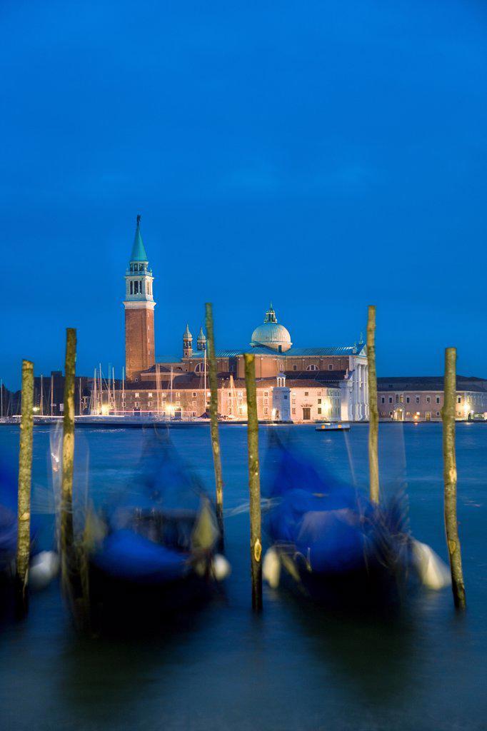 Stock Photo: 4272-15277 Gondolas & San Giorgio Maggiore, Venice, Veneto, Italy
