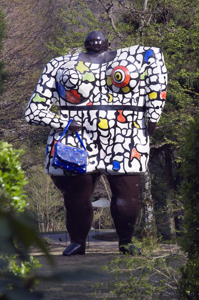 Stock Photo: 4272-15543 Modern sculptures and art displays at Hakone Open Air Museum