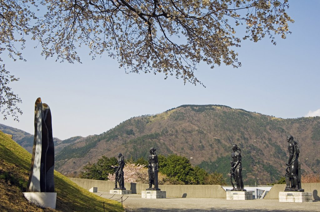 Stock Photo: 4272-15544 Modern sculptures and art displays at Hakone Open Air Museum