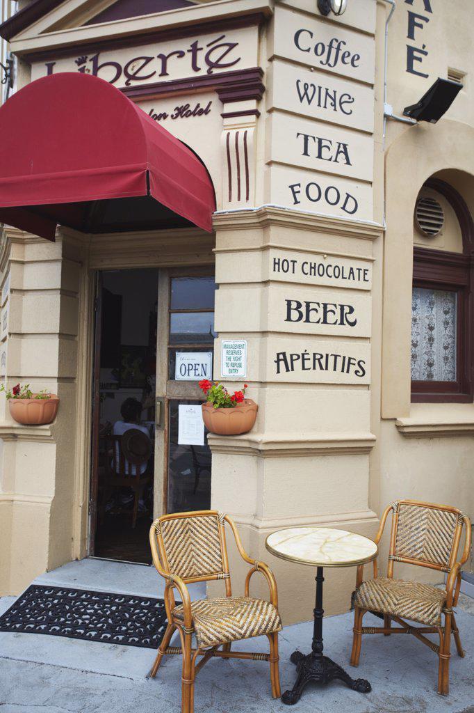 Liberte Cafe in Hotel London, Albany, Western Australia, Australia : Stock Photo