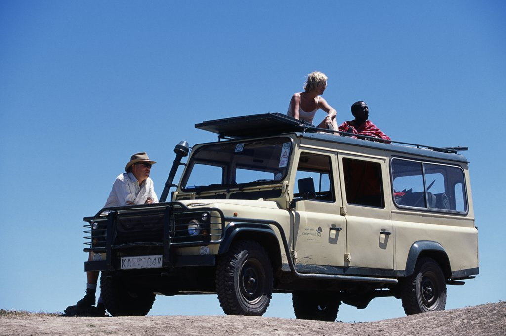 Stock Photo: 4272-16153 Looking out from a game-viewing vehicle on a safari holiday