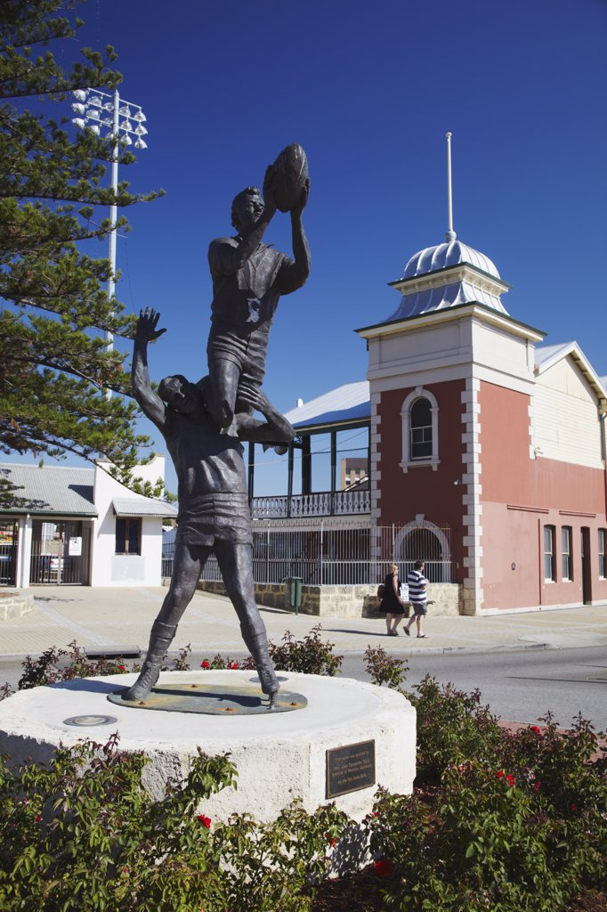 Stock Photo: 4272-1635 Statue outside Fremantle Oval, Fremantle, Western Australia, Australia