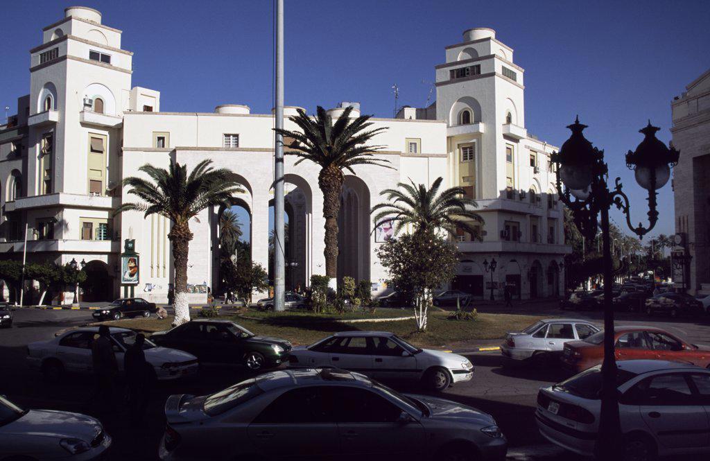 Traffic in Maidan al-Jezayir (Algeria Square) : Stock Photo