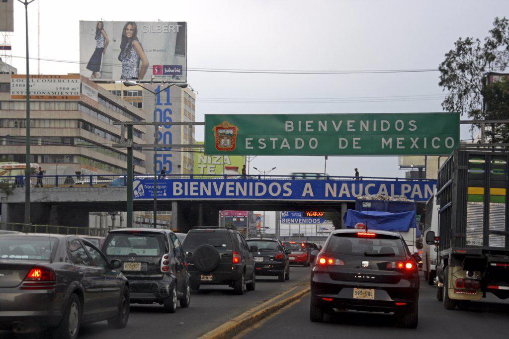 Stock Photo: 4272-20988 Mexico, Mexico City. Rush hour traffic at Naucalpan de Juarez.