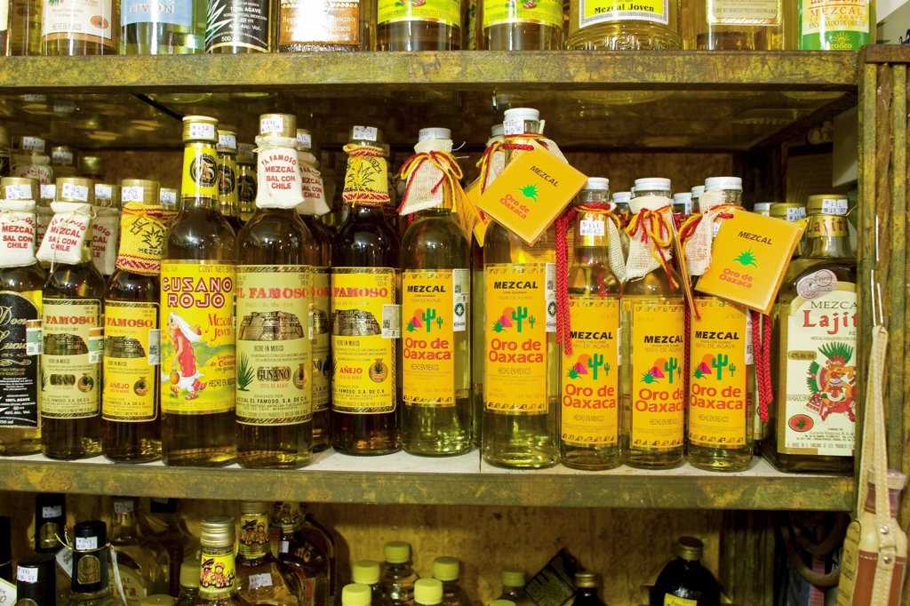 Playa del Carmen, Mexico. Tequila for sale in a shop in Play del Carmen Mexico : Stock Photo