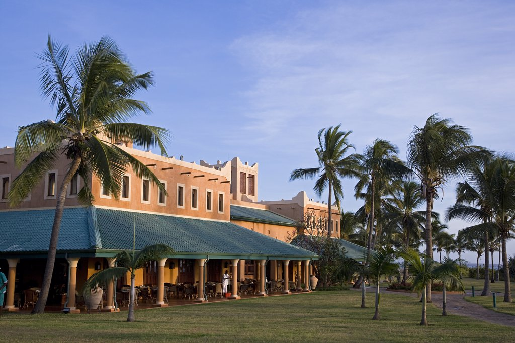 Pemba Beach Hotel near Pemba in northen Mozambique. : Stock Photo