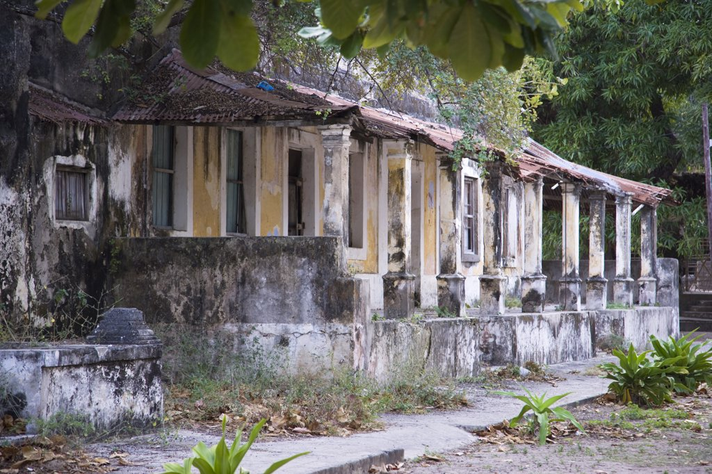Stock Photo: 4272-21860 Crumbling colonial villas on Ibo Island, part of the Quirimbas Archipelago, Mozambique