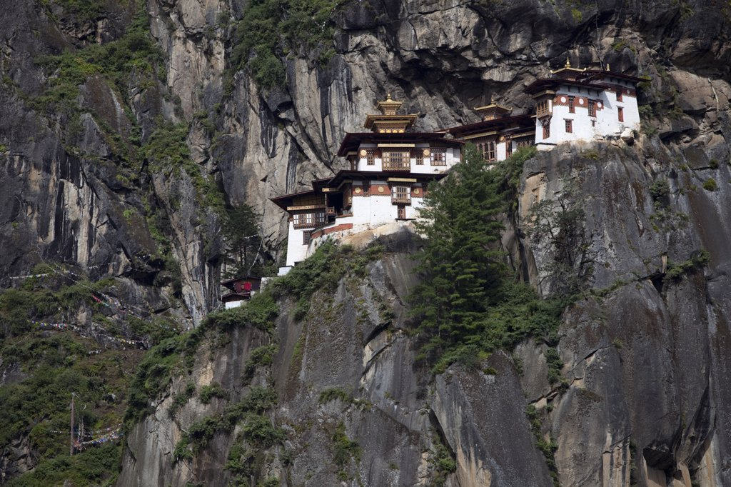 Stock Photo: 4272-2276 The Paro Taktsang or Tigers Nest in the Himalayan Kingdom of Bhutan