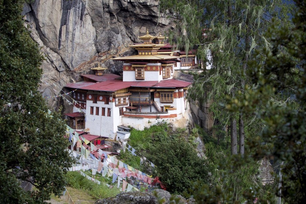 Stock Photo: 4272-2282 The Paro Taktsang or Tigers Nest in the Himalayan Kingdom of Bhutan
