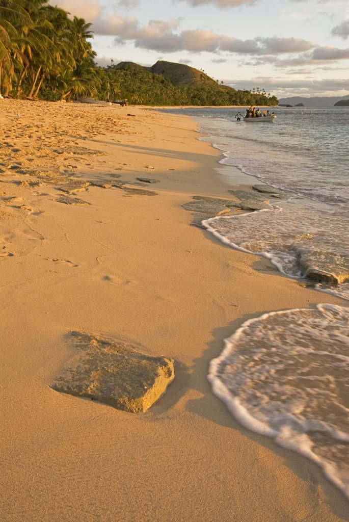 South Pacific, Fiji, Kadavu. West coast beach of Dravuni Island. : Stock Photo