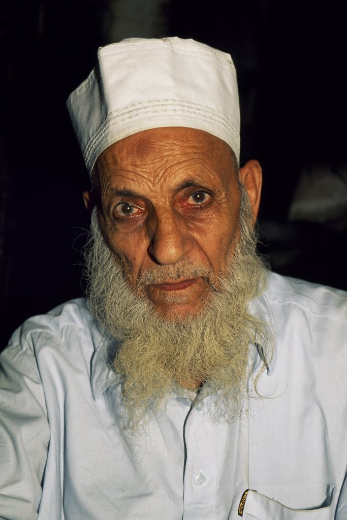 Stock Photo: 4272-25345 An elderly resident of Lahore, capital of the Punjab and Pakistan's most cultured city.