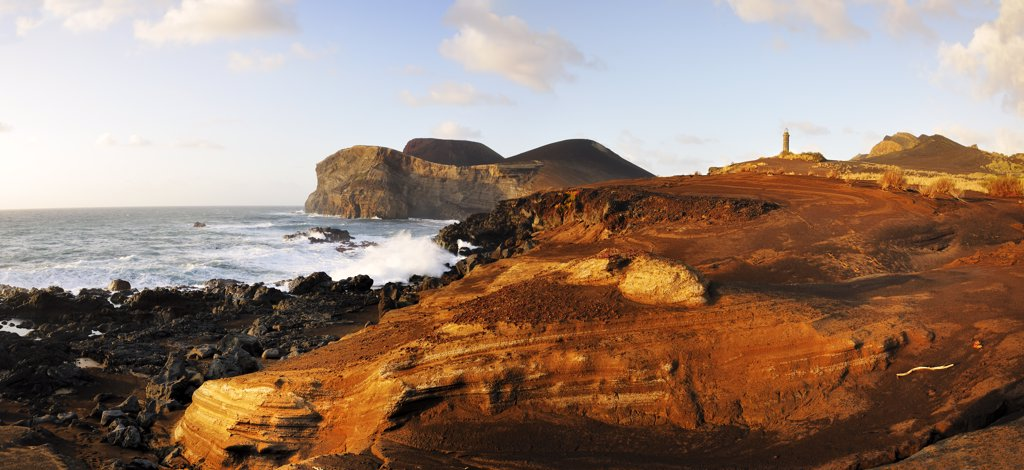 Stock Photo: 4272-26624 The Vulcao dos Capelinhos (Capelinhos volcano) last eruption was in 1957. It is a major attraction in Azores islands for its history, its geology and the wild beauty of the site. Faial, Azores islands, Portugal
