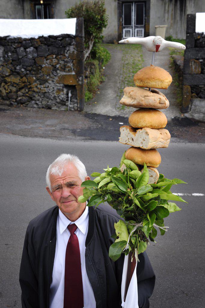 Stock Photo: 4272-26700 Holy Spirit (Espirito Santo) festivities at Silveira. Pico, Azores islands, Portugal