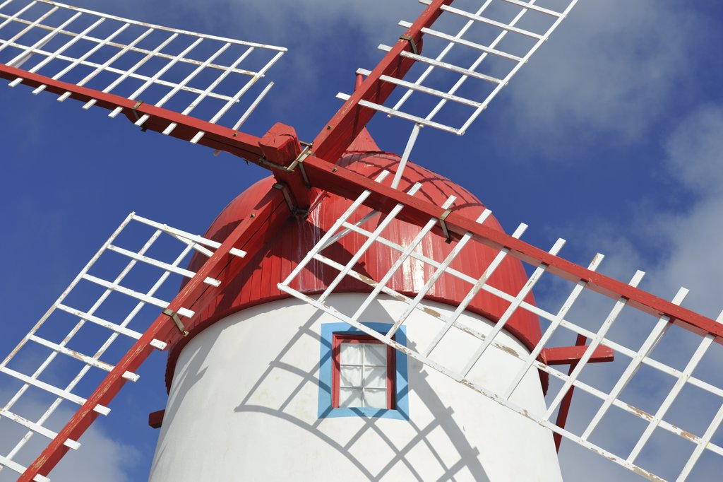 Stock Photo: 4272-26724 A traditional windmill in Sao Mateus. Graciosa, Azores islands, Portugal