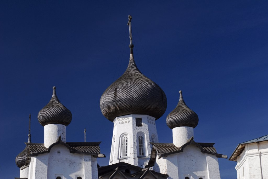 Stock Photo: 4272-27043 Russia, White Sea, Solovetsky Islands. Roof of the Saviour Transfiguration Cathedral.