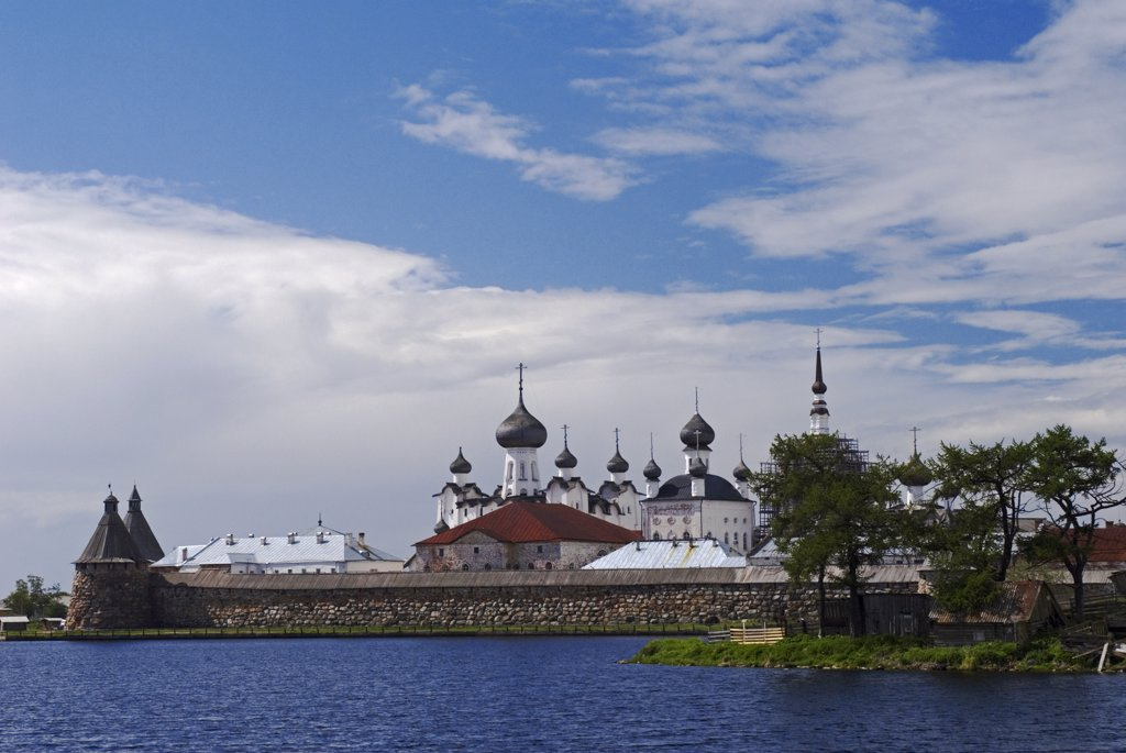 Stock Photo: 4272-27047 Russia, White Sea, Solovetsky Islands. The Solovetsky Monastery and Fortress.