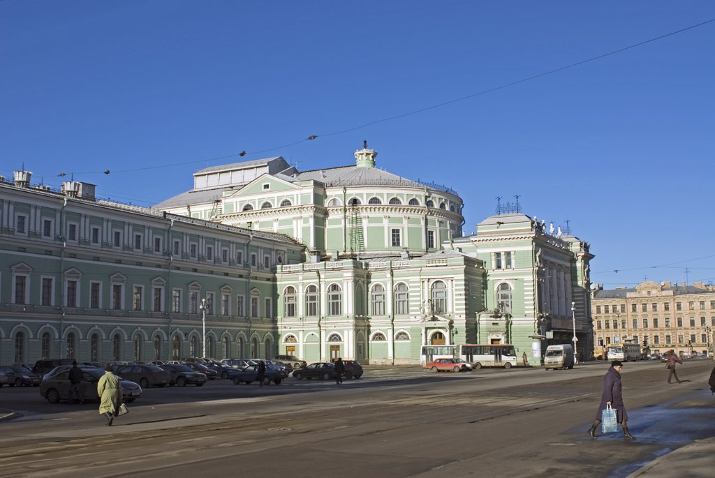 Russia; St Petersburg; Mariinsky Theatre. Named after Empress Maria Alexandrovna, wife of Tsar Alexander II, the Mariinsky Theatre, or Kirov Theatre as it was known in Soviet times, was designed by Rianldi and opened in 1783. Today both its ballet and opera companies are known throughout the world. : Stock Photo