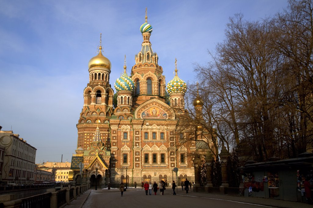 Stock Photo: 4272-27218 Russia, St.Petersburg; Church of the Resurrection known as the Church on Spilled Blood as it was built where Alexander II was assassinated in 1881