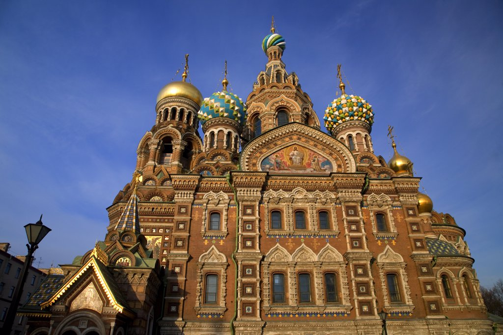 Stock Photo: 4272-27424 Russia, St. Petersburg; The restored Church of Christ the Saviour, also known as Church on Spilled Blood