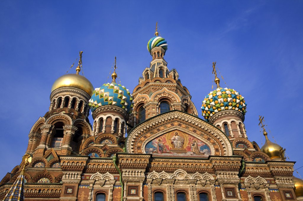 Stock Photo: 4272-27425 Russia, St. Petersburg; The restored Church of Christ the Saviour, also known as Church on Spilled Blood