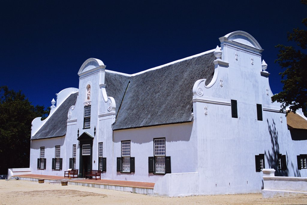 Stock Photo: 4272-27795 The old Cape Dutch manor house at  Groot Constantia vineyard