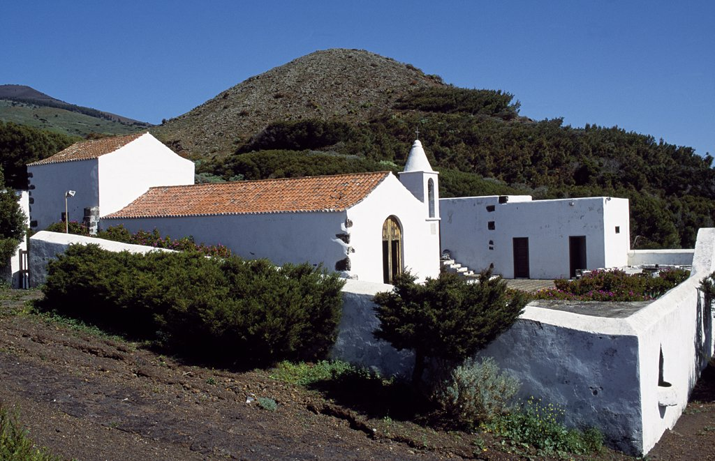 Stock Photo: 4272-29720 The whitewashed Church of Senora de los Reyes.  Every four years the madonna is taken from the church and processed the length and breadth of El Hierro Island