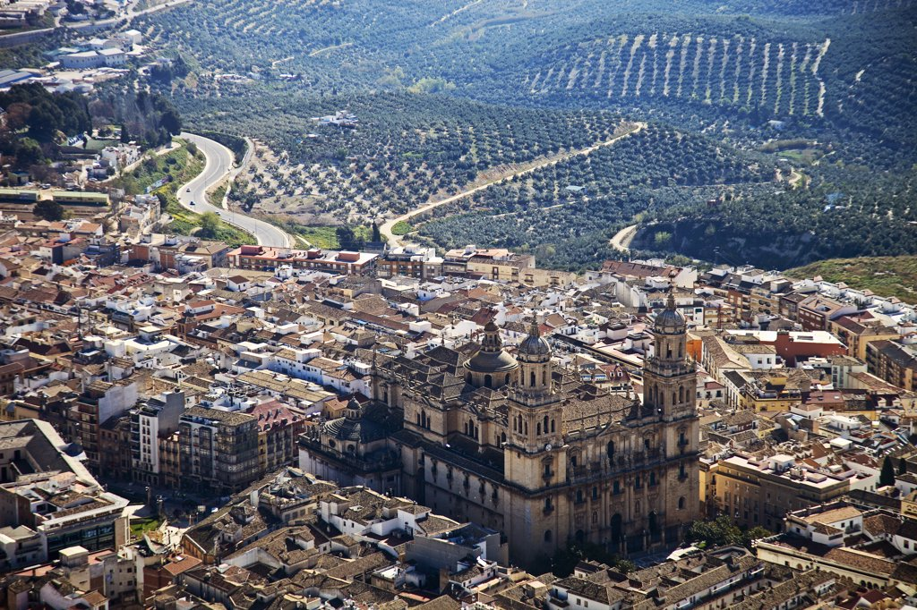 Stock Photo: 4272-30375 Spain, Andalucia, Jaen, Cano Quebrado, the Renaissance Jaen Cathedral in the centre of Jaen.