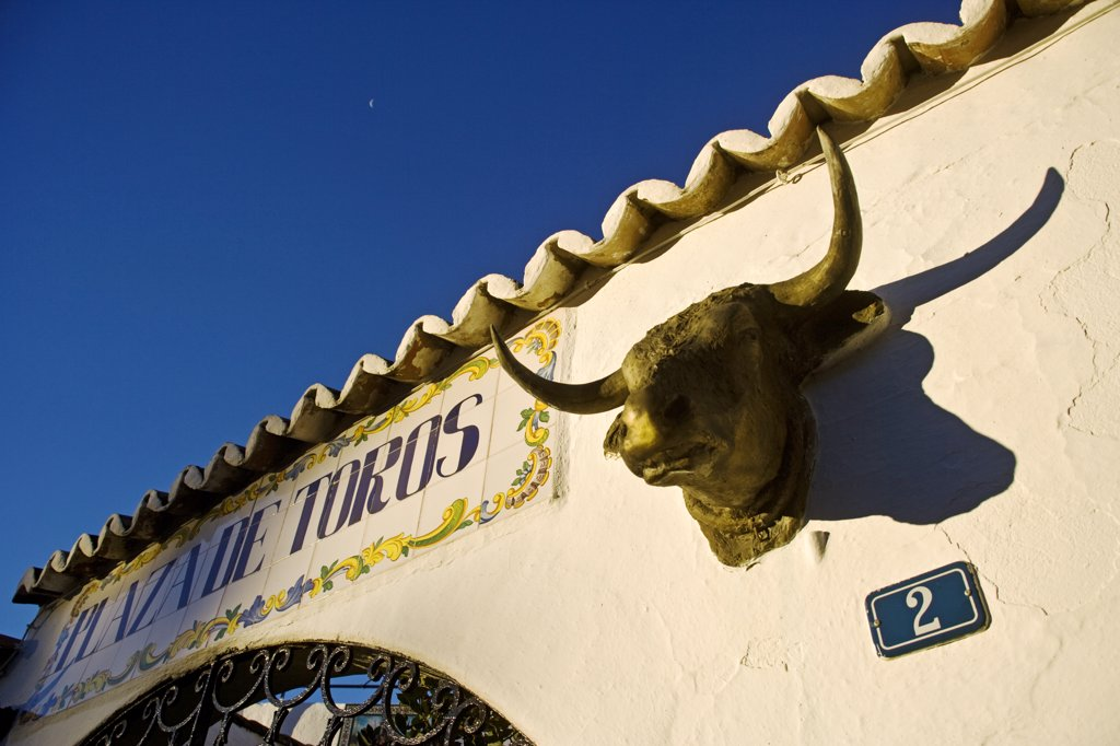 Stock Photo: 4272-30435 Bullring detail in the town of Mijas, Andalusia, Spain