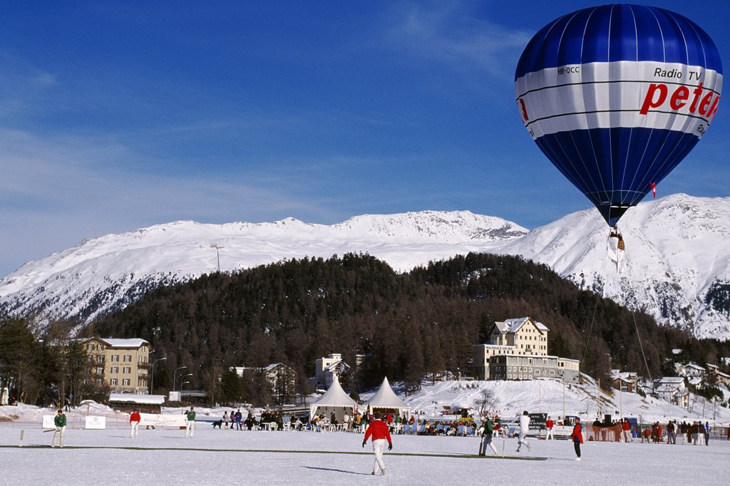 Stock Photo: 4272-31505 International Cricket on ice on the lake at St Moritz
