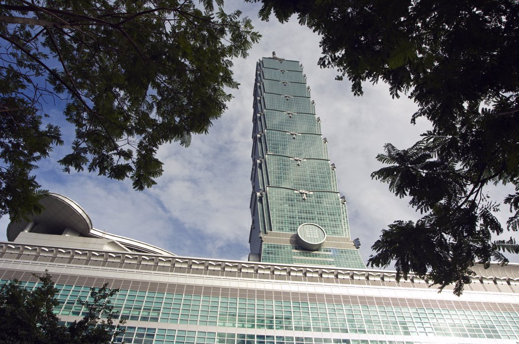 Stock Photo: 4272-32021 Taiwan Taipei Taipei 101 highest building in the world