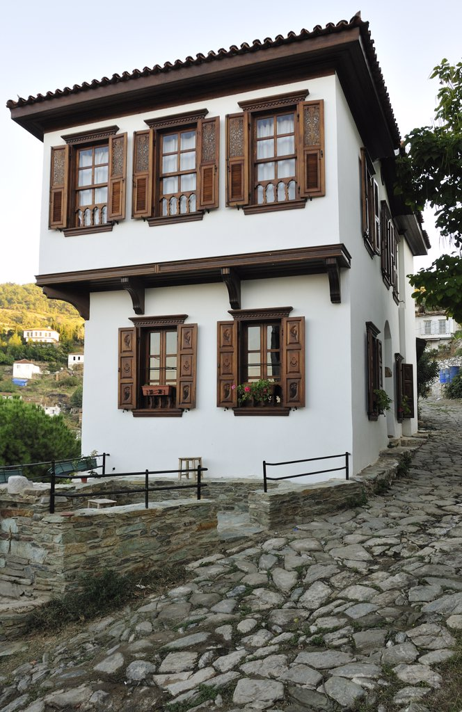 House of Sirince, in Izmir province. It was settled by freed Greek slaves. Turkey, Asia : Stock Photo