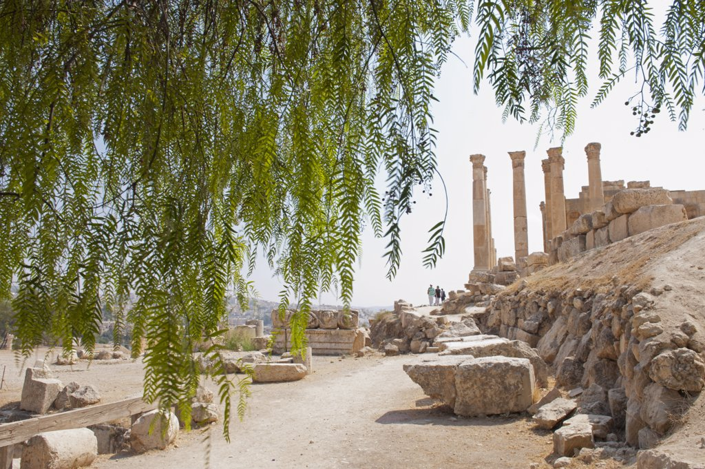 Stock Photo: 4272-37335 Jerash, located 48 kilometers north of Amman is considered one of the largest and most well-preserved sites of Roman architecture in the world, Jordan